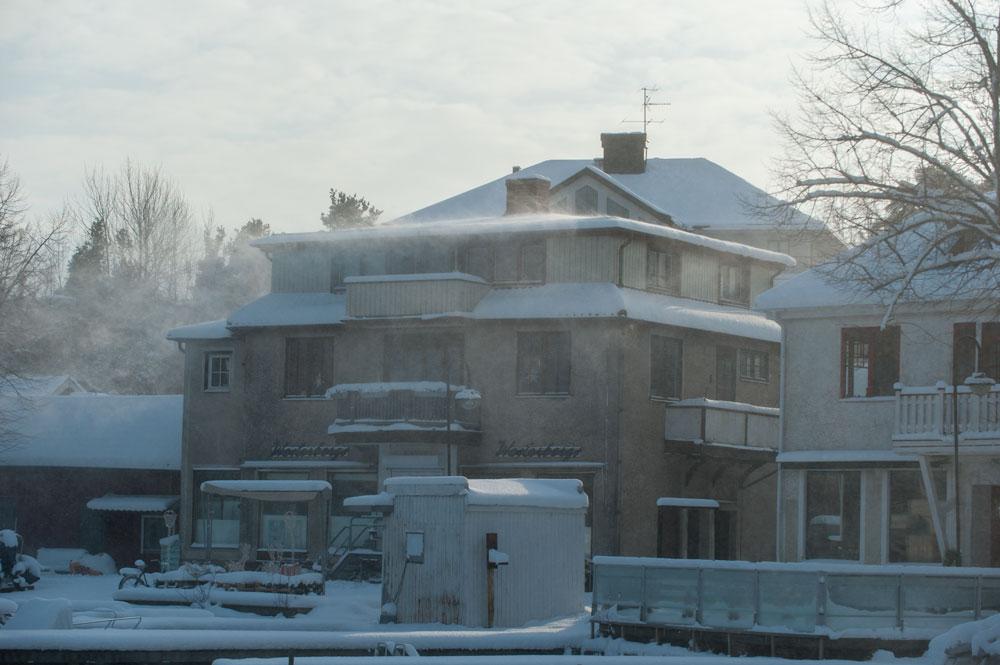 Snöstorm Sandhamn