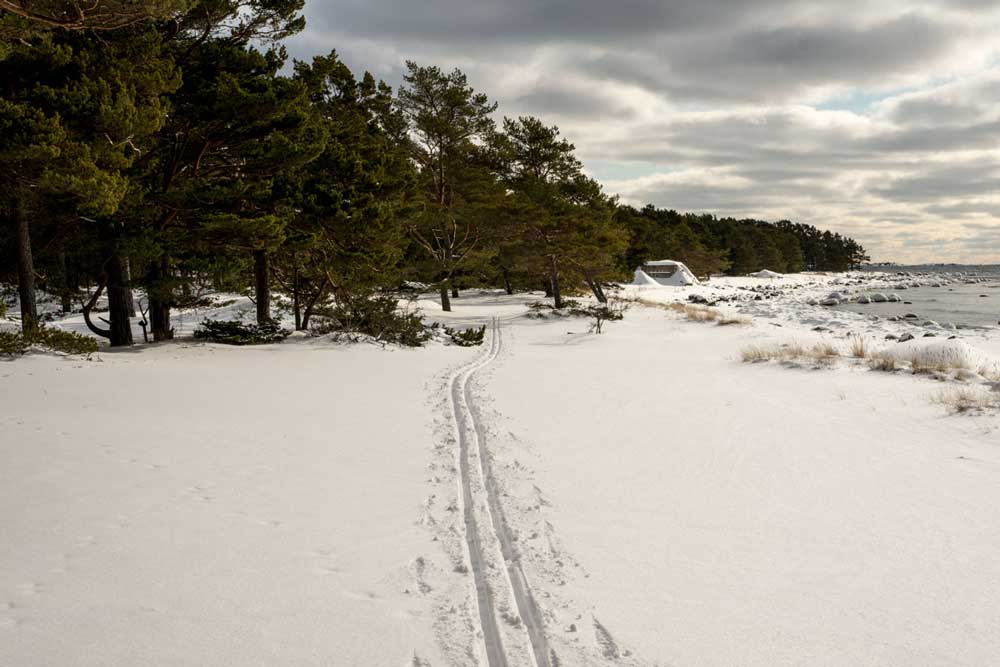 Vinter Södra stranden Sandhamn