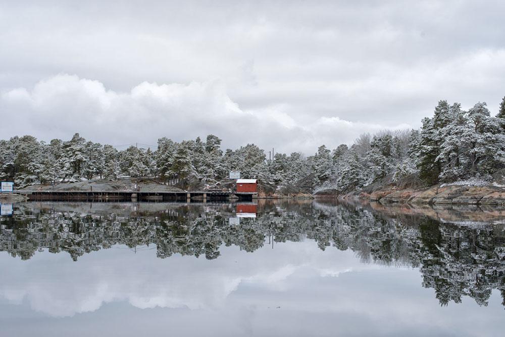 Lökholmen Vinter Snö Sandhamn KSSS
